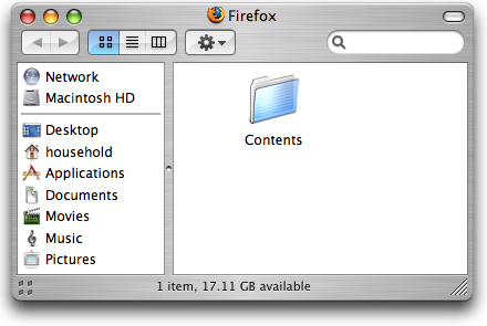 Firefox package contents